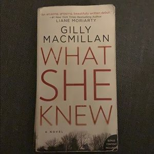 Free w/ purchase -What She Knew by Gilly Macmillan